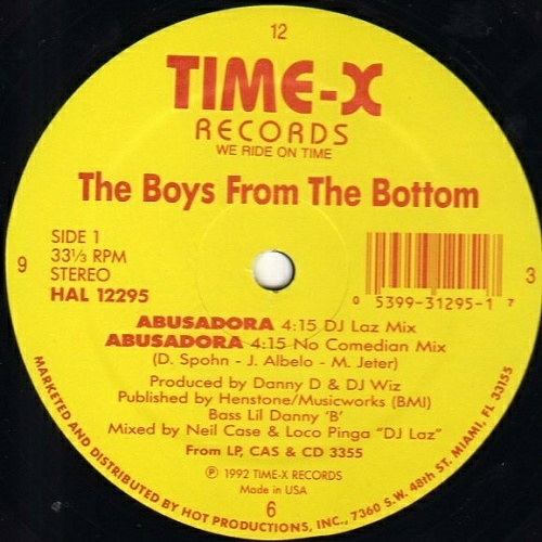 The Boys From The Bottom - Abusadora (12'' Vinyl, 33 1-3 RPM) cover