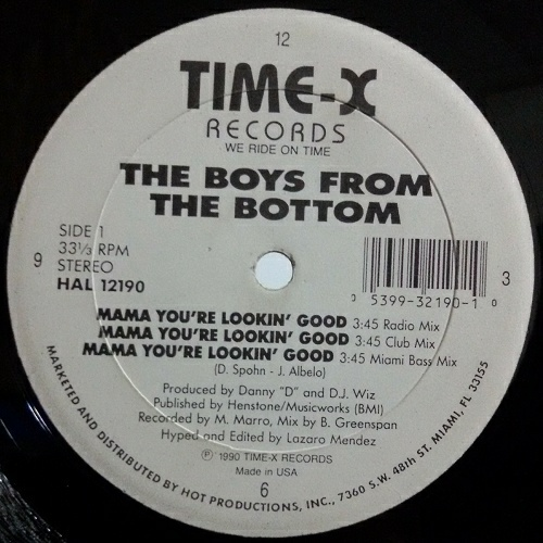 The Boys From The Bottom - Mama You`re Lookin Good (12'' Vinyl, 33 1-3 RPM) cover