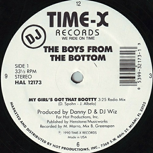The Boys From The Bottom - My Girl`s Got That Bootty (12'' Vinyl, 33 1-3 RPM) cover