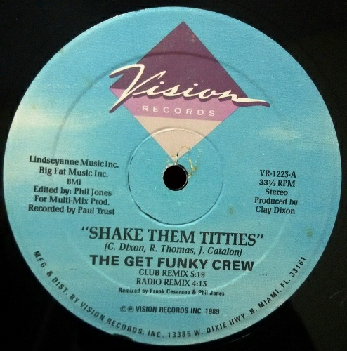 The Get Funky Crew - Shake Them Tittles (12'' Vinyl, 33 1-3 RPM) cover