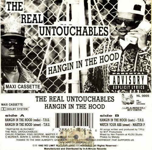 The Real Untouchables - Hangin In The Hood (Cassette Maxi-Single) cover