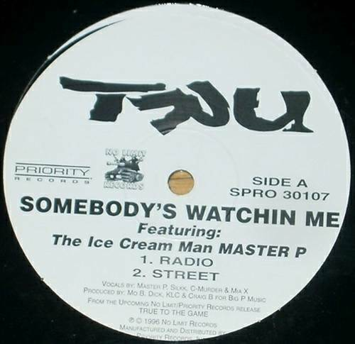 TRU - Somebody`s Watchin Me (Vinyl Promo) cover