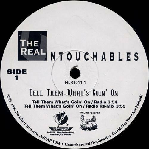 The Real Untouchables - Tell Them What`s Goin` On (12'' Vinyl) cover