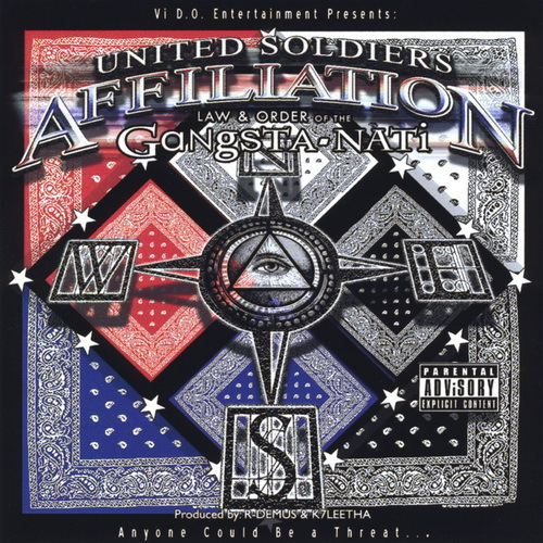 United Soldiers Affiliation - Law And Order Of The Gangsta-Nati cover