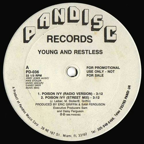Young & Restless - Poison Ivy (12'' Vinyl, 33 1-3 RPM, Promo) cover
